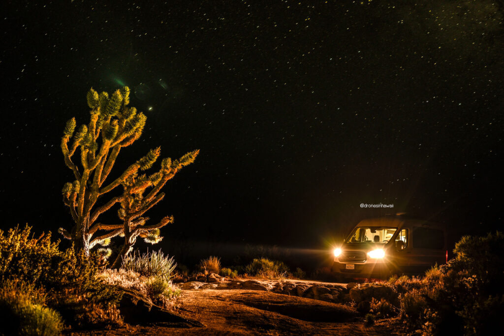 the van life at night time